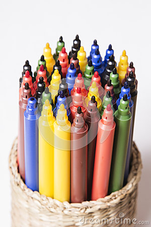 Free Colorful Pens Stock Photography - 35371812
