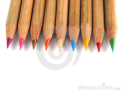 Colorful pens (up-view)