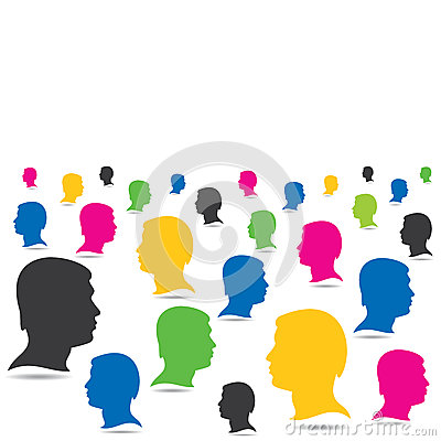 Colorful people crowd background
