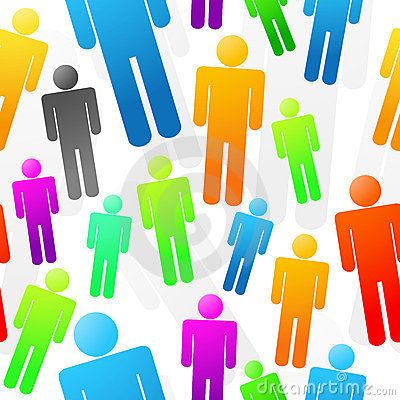 Colorful People Seamless Background