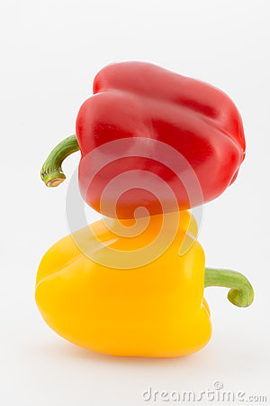 Colorful pepper  on white background