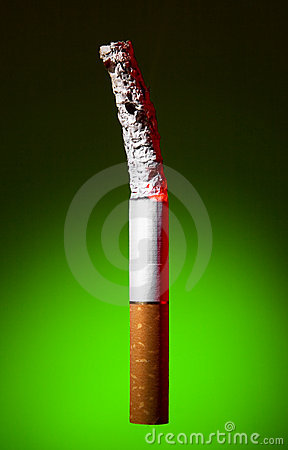Colorful photo of cigarette