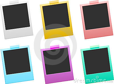 Colorful photo frames