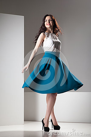 Free Colorful Photo Of A Woman In White Top And Dark Blue Skirt Royalty Free Stock Images - 81468919