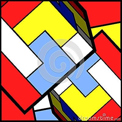 Colorful pieces bakcground