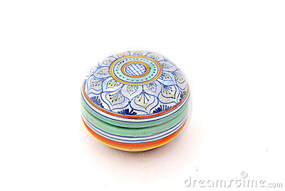 Colorful pill box