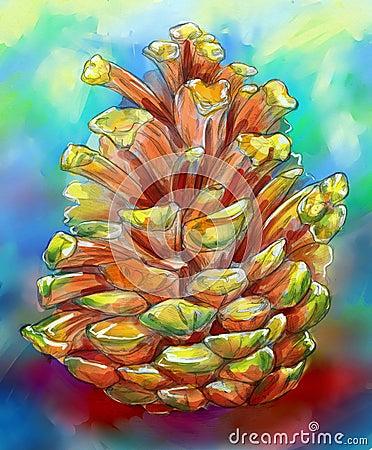 Colorful pine cone