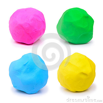 Free Colorful Pink Green Blue And Yellow Plasticine Clay Stock Photos - 42916373