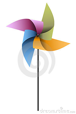 Free Colorful Pinwheel Royalty Free Stock Image - 15816846