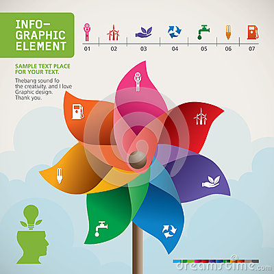Free Colorful Pinwheel On Hand Vector. Royalty Free Stock Photography - 41736787