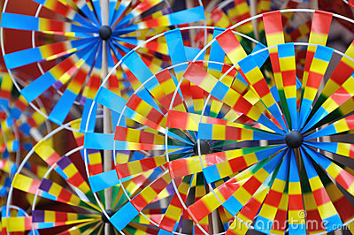 Colorful pinwheel toys