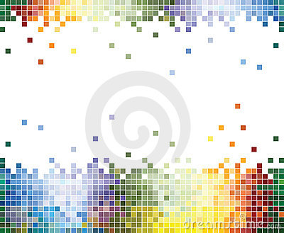 Colorful Pixels Abstract background
