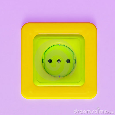 Colorful plastic socket