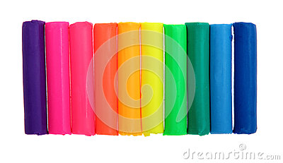 Colorful plasticine bars