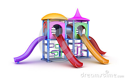 Colorful playground for childrens