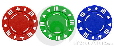 Colorful poker chips.