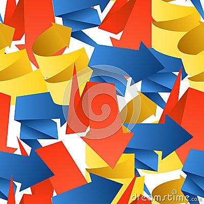 Colorful polygonal origami arrows