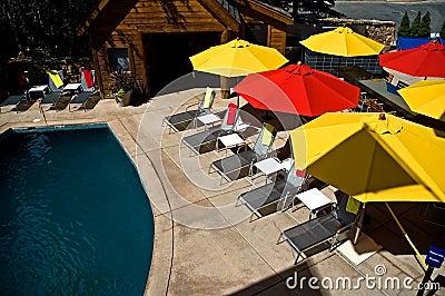 Colorful Pool Umbrellas