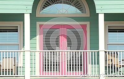 Colorful porch area of a Pensacola, Florida home