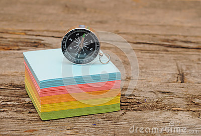 Colorful post it note block