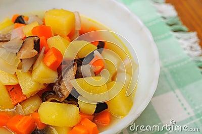 Colorful potato delicacy