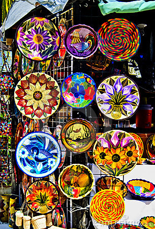 Colorful Pottery, Mexico