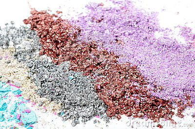 Colorful powder eyeshadow