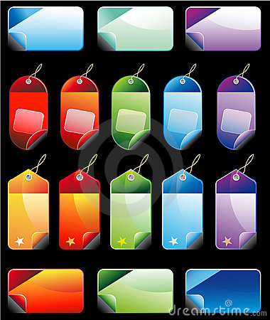 Colorful Promotional sales price labels