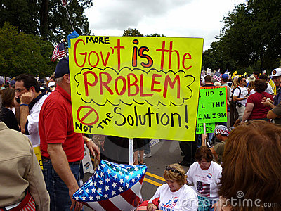 Colorful Protest Sign Editorial Stock Photo