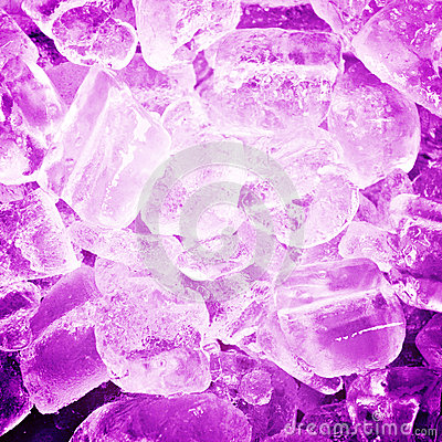 Colorful purple abstract background from ice cubes