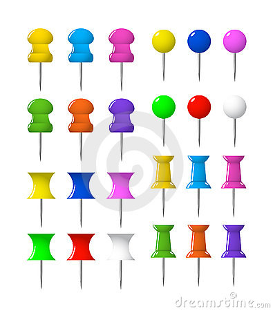 Free Colorful Push Pins Pushpins Stationery Royalty Free Stock Photography - 3322327