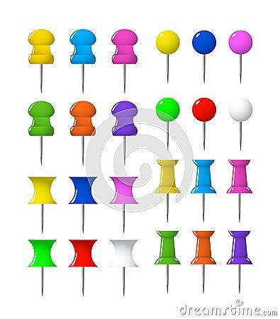 Colorful push pins pushpins stationery