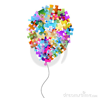Colorful puzzle balloon
