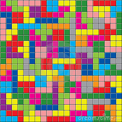 Colorful puzzle pieces Vector Illustration