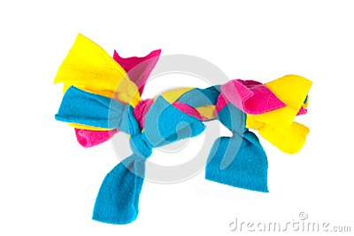 Colorful rag chew toy for puppies