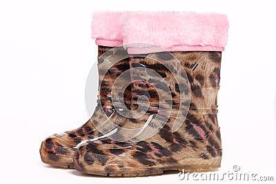Colorful rain boots Stock Photo