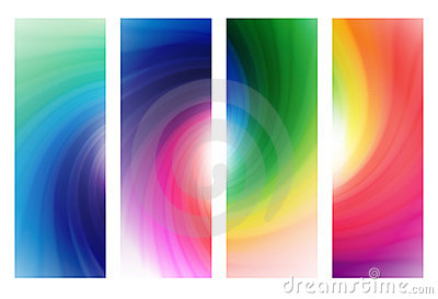 Colorful rainbow banners