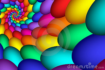 Colorful Rainbow Eggs Abstract