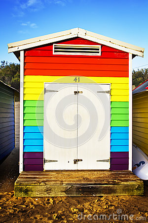 Colorful rainbow hut