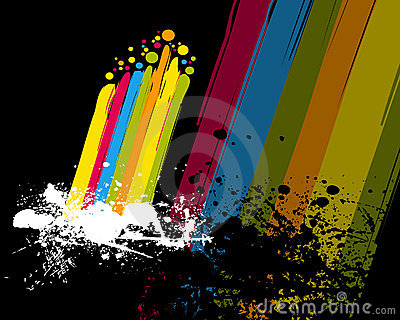 Colorful rainbow and paint