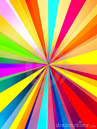 Colorful Rays Background