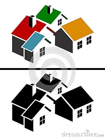 Colorful real estate icon