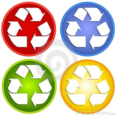 Colorful Recycle Symbols