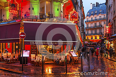 Colorful Restaurants Latin Quarter West Bank Paris France
