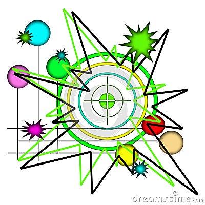 Colorful Retro Bullseye Artistic Design