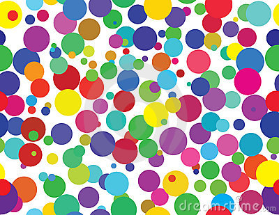 Colorful retro dots - seamless