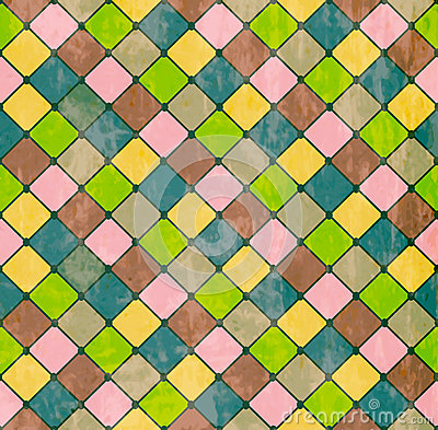 Colorful Rhombus. Seamless pattern