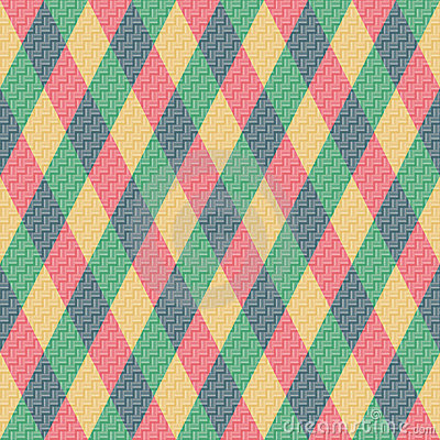 Colorful Rhombus. Seamless pattern, background