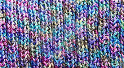 Colorful Rib Stitch Knit Pattern