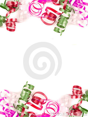 Free Colorful Ribbon Borders Royalty Free Stock Photography - 12628947